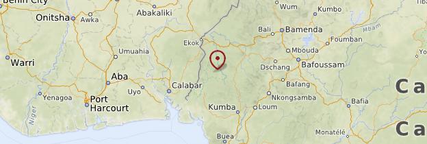 Carte Parc national de Korup - Cameroun