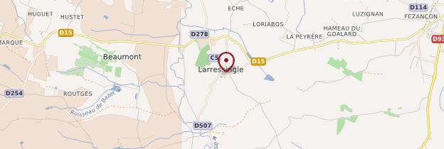 Carte Larressingle - Midi toulousain - Occitanie