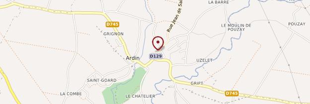 Carte Ardin - Poitou, Charentes