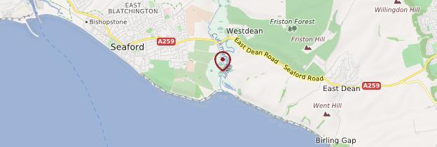 Carte Cuckmere Haven - Angleterre
