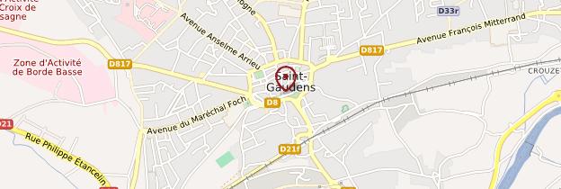 Carte Saint-Gaudens - Midi toulousain - Occitanie