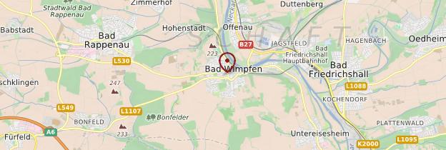 Carte Bad Wimpfen - Allemagne