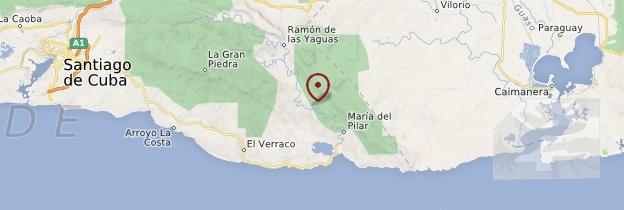 Carte Parc national de Baconao - Cuba