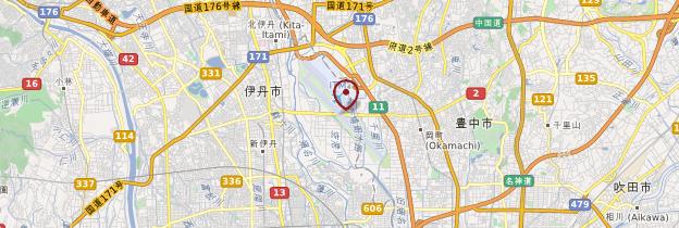 Carte Aéroport international d'Osaka (Itami) - Japon