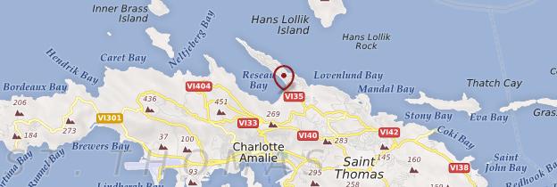 Carte Magens Bay - Îles Vierges des États-Unis