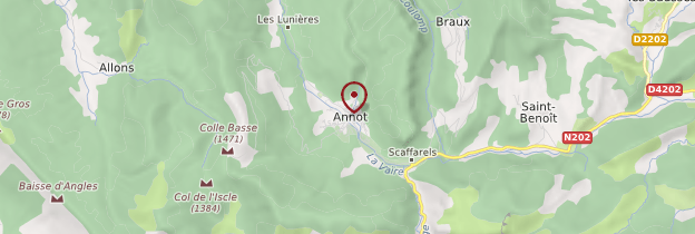 Carte Annot - Provence