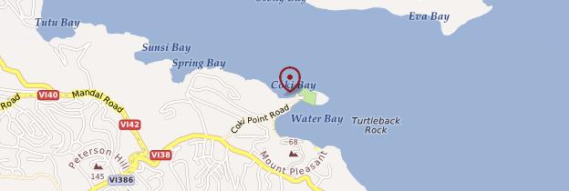 Carte Coki Bay - Îles Vierges des États-Unis