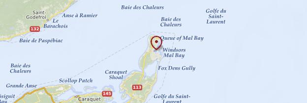 Carte Île de Miscou - Canada