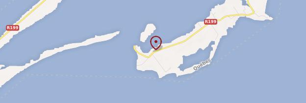 Carte Île de Grande-Entrée - Québec