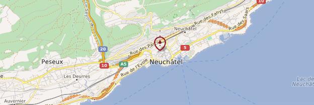 Carte Collégiale de Neuchâtel - Suisse
