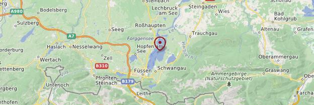 Carte Forggensee - Allemagne