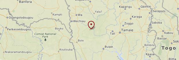 Carte Mole National de Park - Ghana