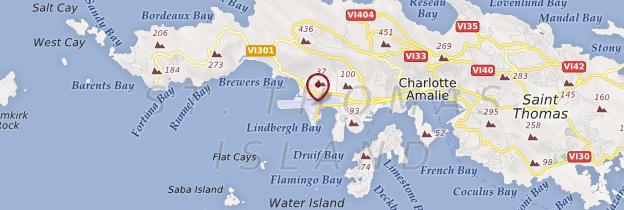 Carte Cyril E. King Airport - Îles Vierges des États-Unis