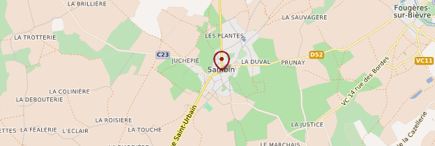 Carte Sambin - Châteaux de la Loire