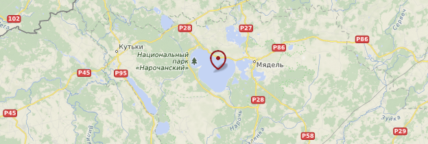 Carte Lac Naratch - Biélorussie