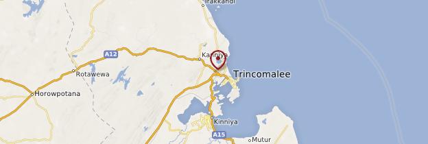Carte Trincomalee - Sri Lanka