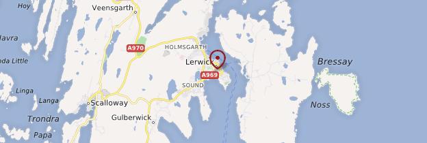 Carte Lerwick - Écosse
