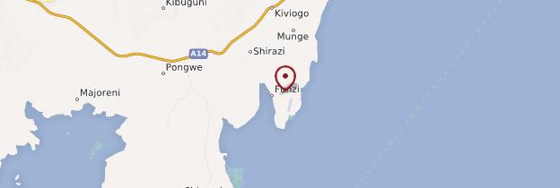Carte Île de Funzi - Kenya
