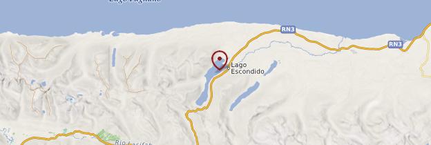 Carte Lago Escondido - Patagonie