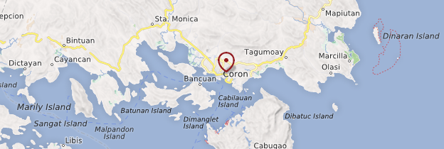 Carte Coron (ville) - Philippines