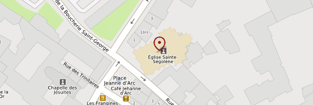 Carte Eglise Sainte-Ségolène - Lorraine