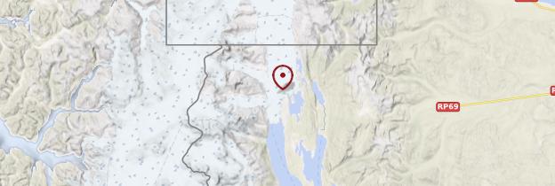 Carte Glacier Upsala - Patagonie