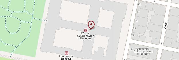 Carte Musée archéologique national - Athènes