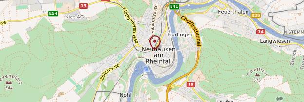 Carte Neuhausen am Rheinfall - Suisse