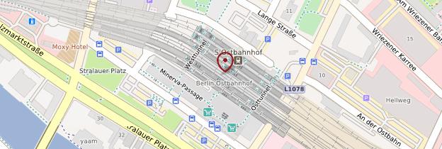 Carte Ostbahnhof - Berlin