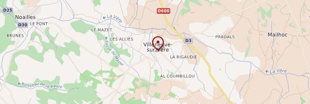 Carte Villeneuve-sur-Vère - Midi toulousain - Occitanie