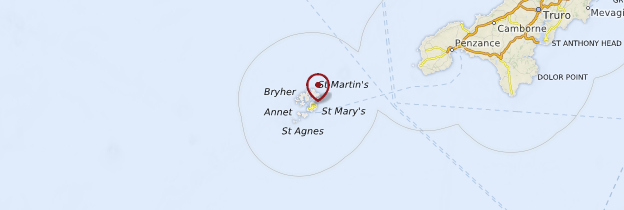 Carte Îles Scilly - Angleterre