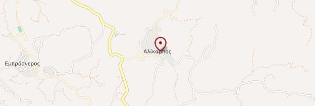 Carte Alikampos - Crète