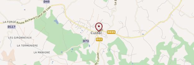 Carte Cussac - Limousin