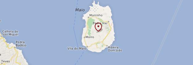 Carte Île de Maio - Cap-Vert