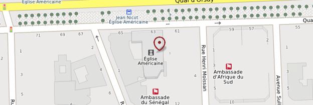 Carte Église américaine de Paris - Paris