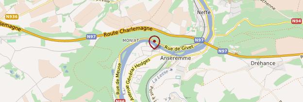Carte Anseremme - Belgique