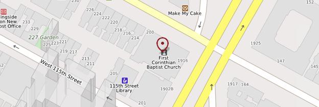 Carte First Corinthian Baptist Church - New York