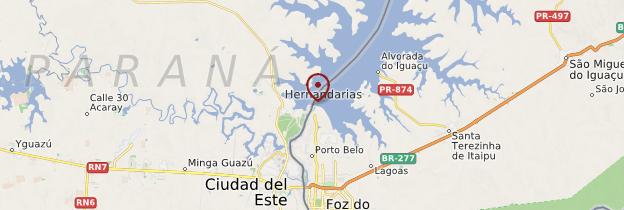 Carte Barrage d'Itaipu - Brésil