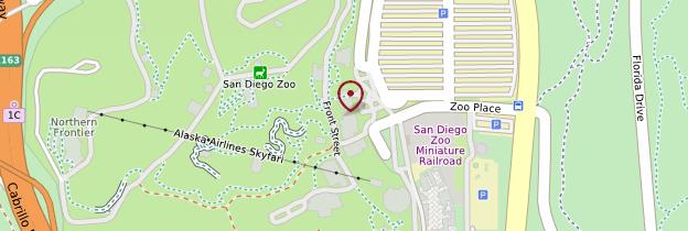 Carte Zoo de San Diego - Californie