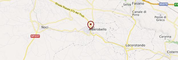 Carte Alberobello - Italie