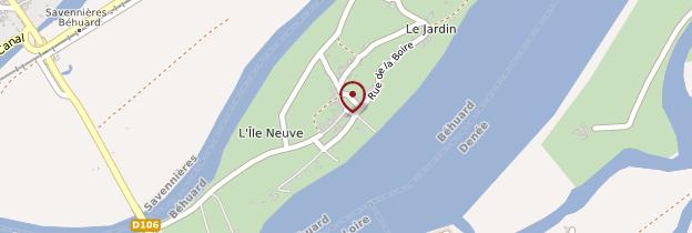 Carte Béhuard - Pays de la Loire