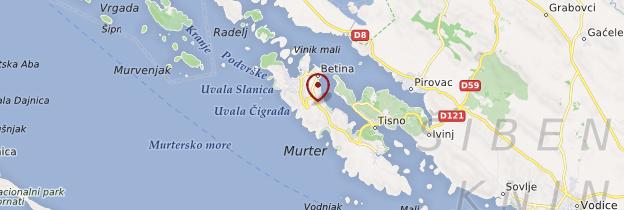 Carte Île de Murter - Croatie