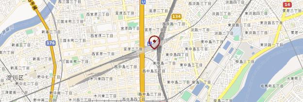Carte Gare Shin Osaka - Japon