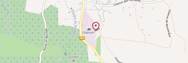Carte Site archéologique de Glanum - Provence