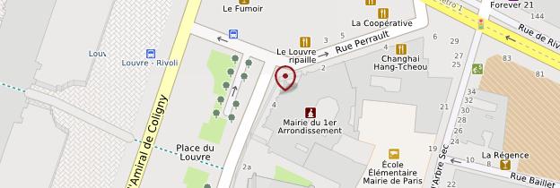 Carte Hôtel de ville du 1er arrondissement - Paris