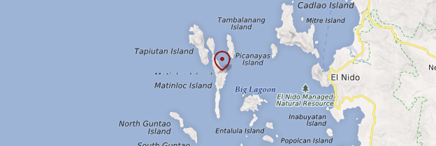 Carte Matinloc Island - Philippines