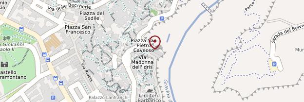 Carte Chiesa dei Santi Pietro e Paolo al Sasso Caveoso - Italie