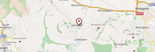 Carte Alfriston - Angleterre