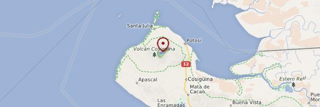 Carte Réserve naturelle du volcan Cosigüina - Nicaragua