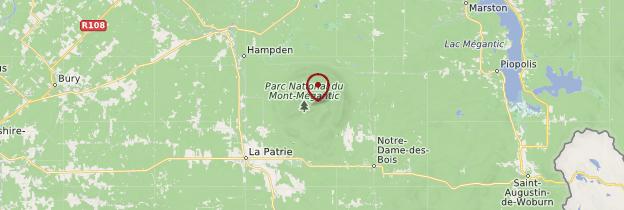 Carte Parc national du Mont-Mégantic - Québec